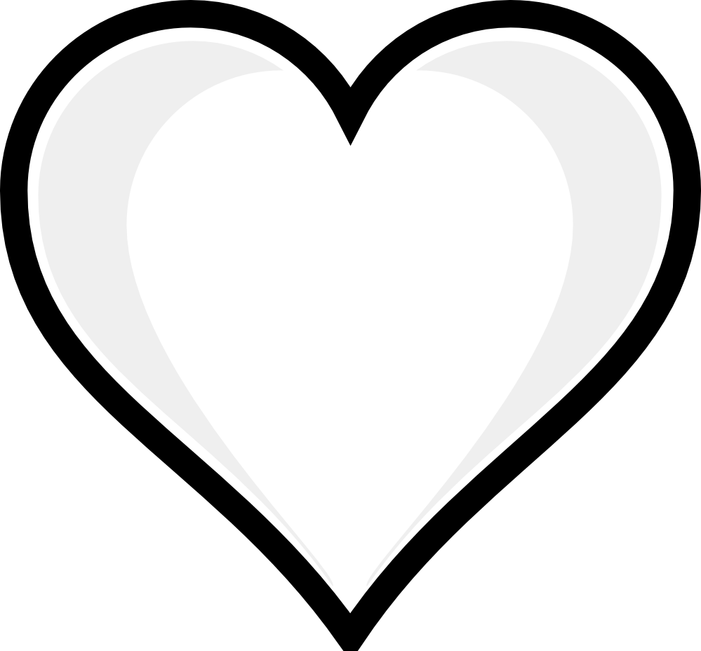Hearts clipart book. Heart shape black and