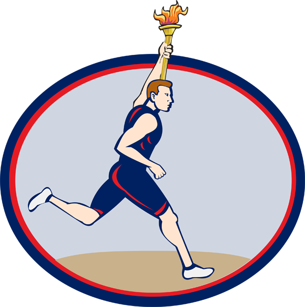 collection of winter. Torch clipart runner olympic