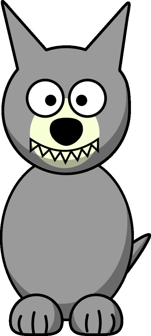 Cartoon i royalty free. Wolf clipart cute