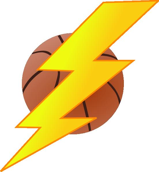Bolt basketball at clker. Lightning clipart clip art
