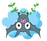 Bat clipart. Free clip art pictures