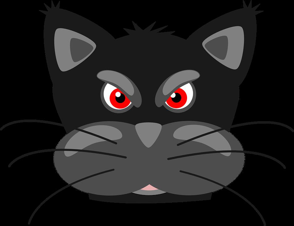Black cat mean pencil. Warrior clipart baby