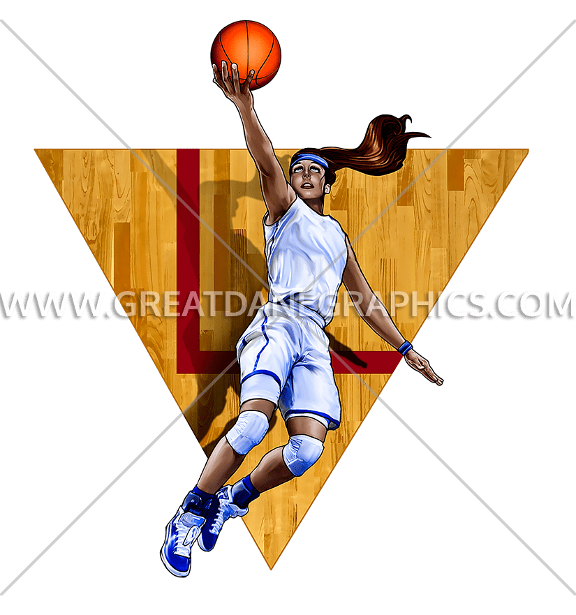 Girls clipart basketball player. Layup production ready artwork