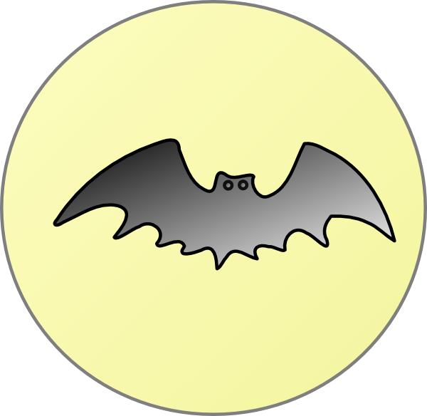 Clipart moon route. Bat with clip art