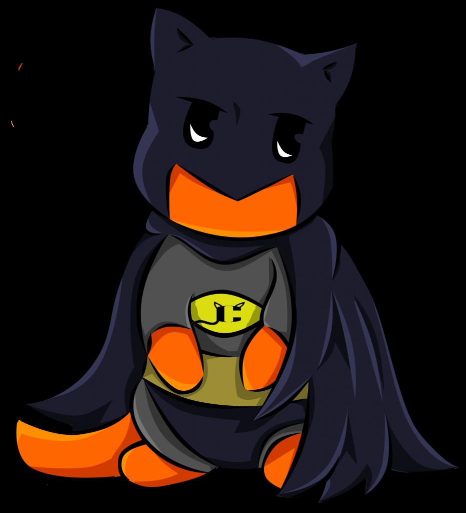 Character the capedcat no. Clipart cat bat