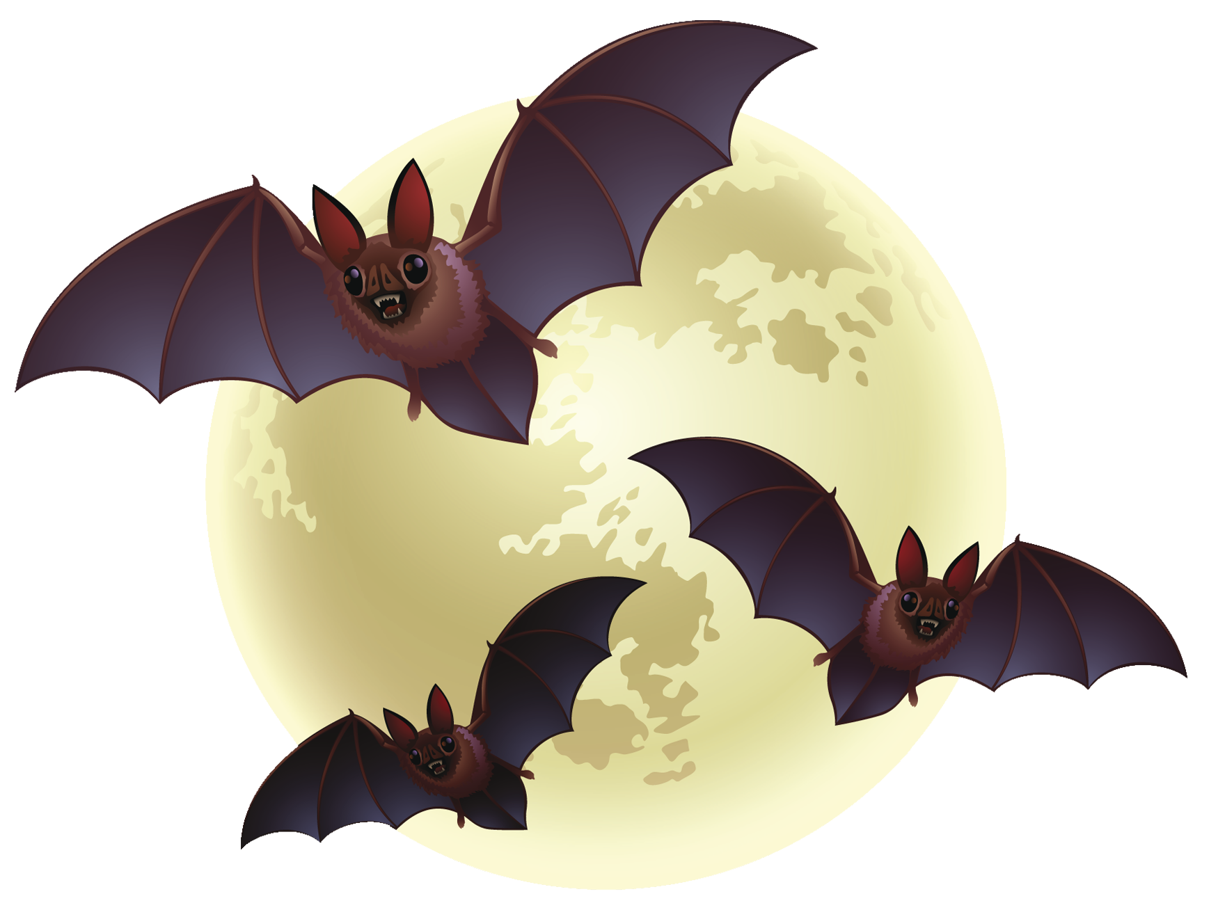 Halloween with bats png. Clipart moon creepy