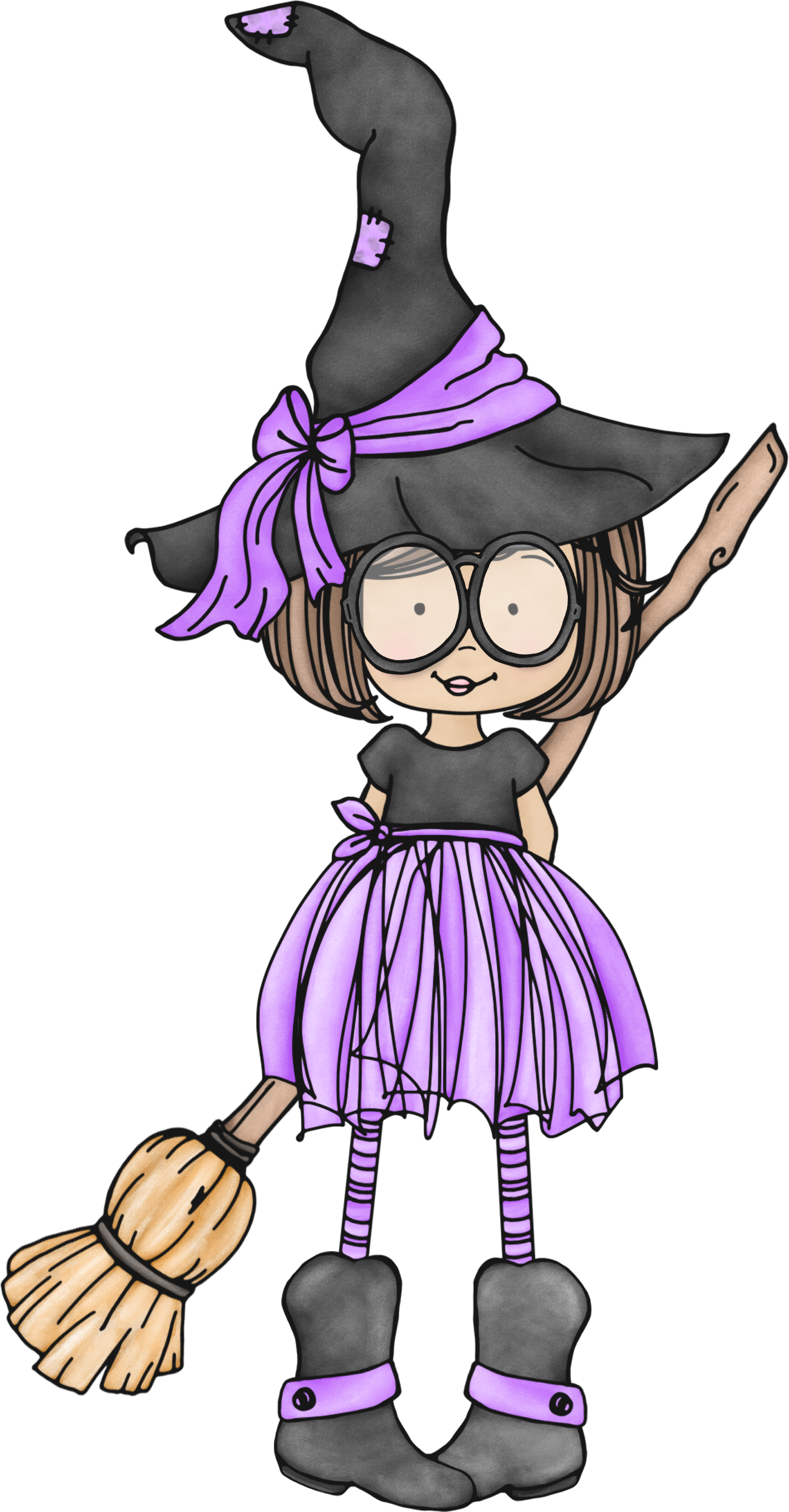 Pretty witch at getdrawings. Clipart walking person cute