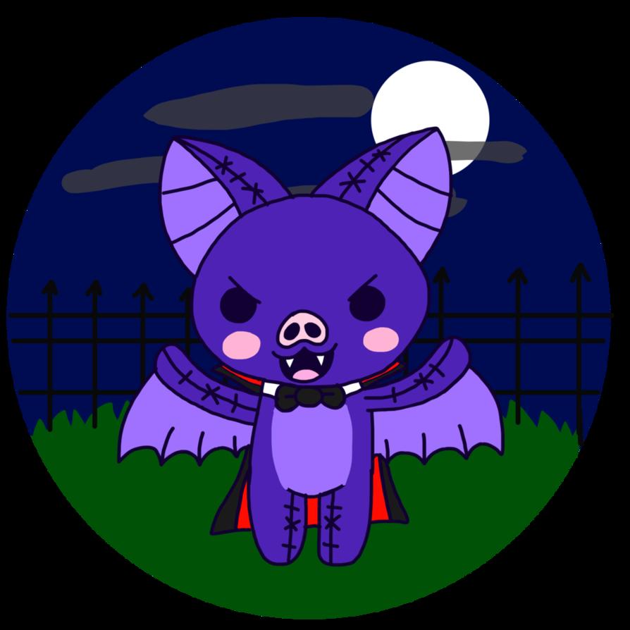 Kawaii o ween bat. Vampire clipart evil