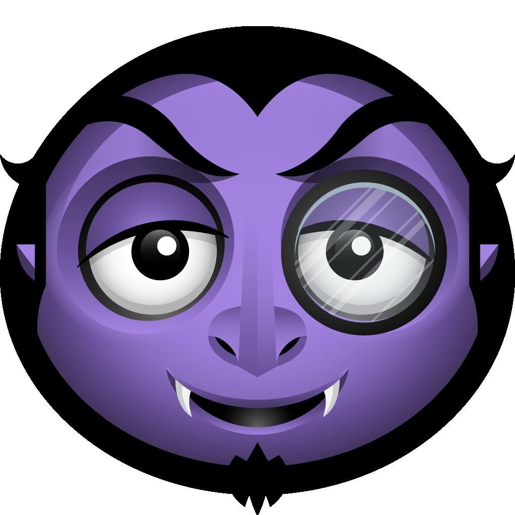 Moon bat halloween icon. Vampire clipart vampire face