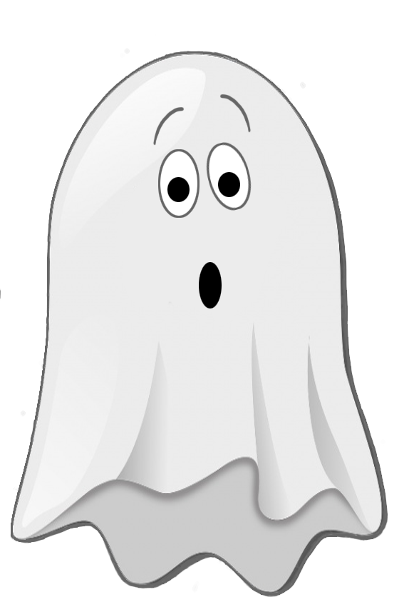 Halloween clipart night. Scared little ghost clip