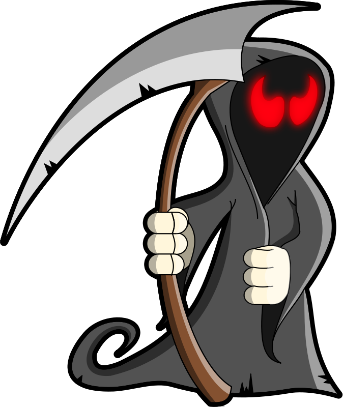 Halloween grim reaper clip. Race clipart skin
