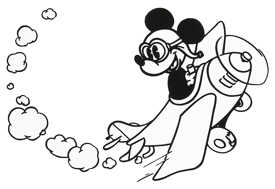 Clipart fireworks mickey. Mouse black and white