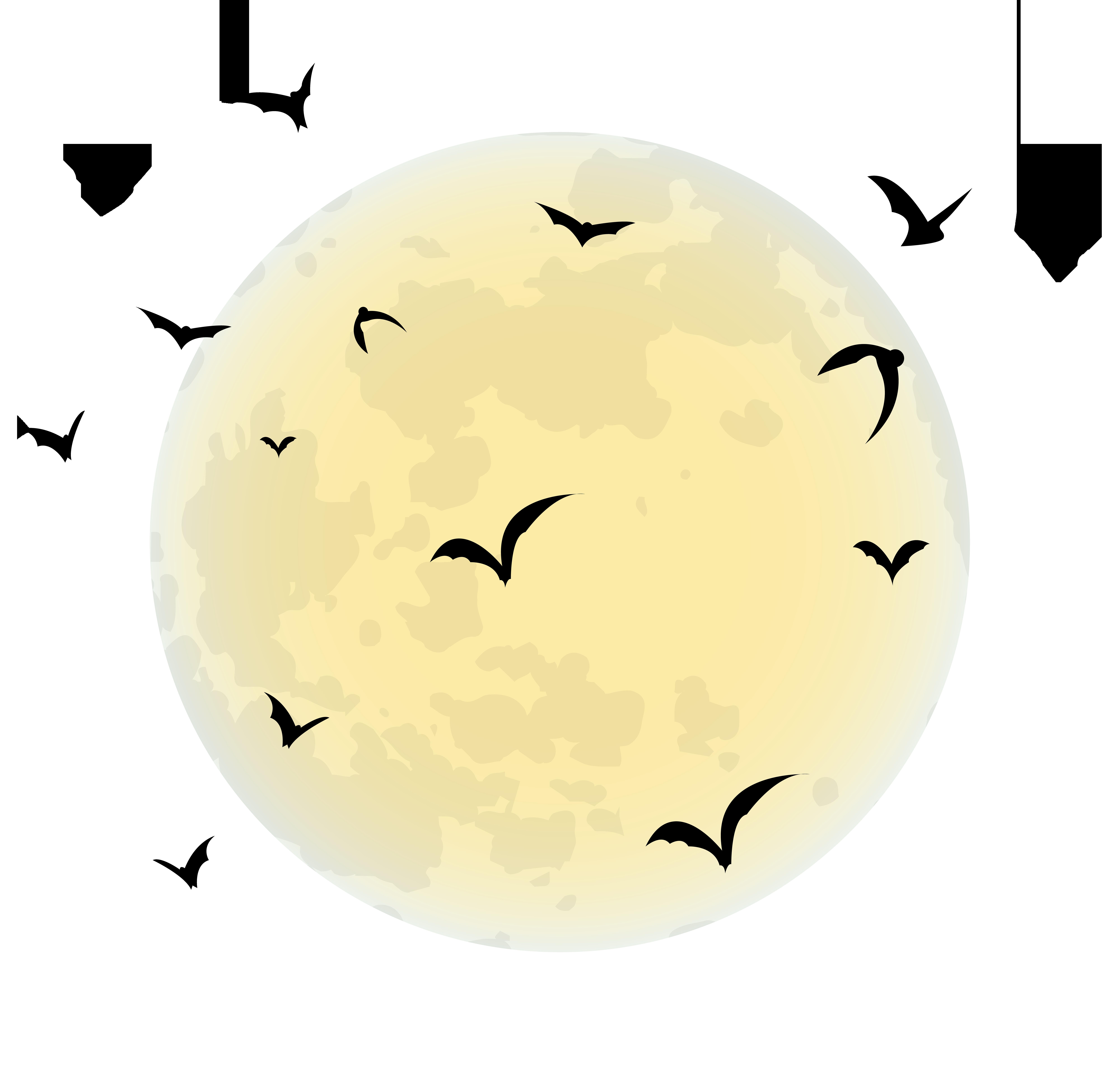 Png clip art image. Clipart halloween moon