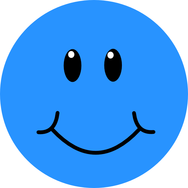 Blue sad pencil and. Clipart smile large