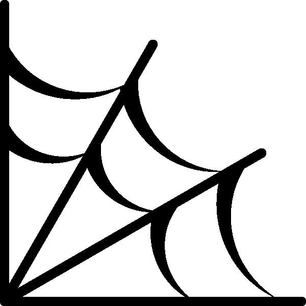 Spider web icon clip. Motivation clipart dangle