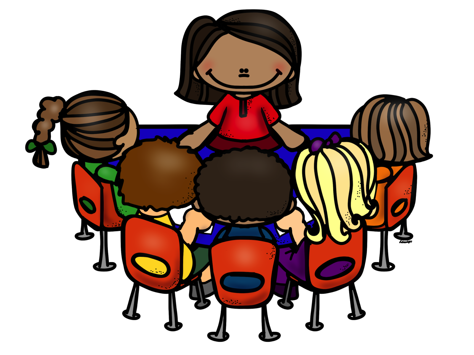 Children reading at kidney. Playdough clipart center