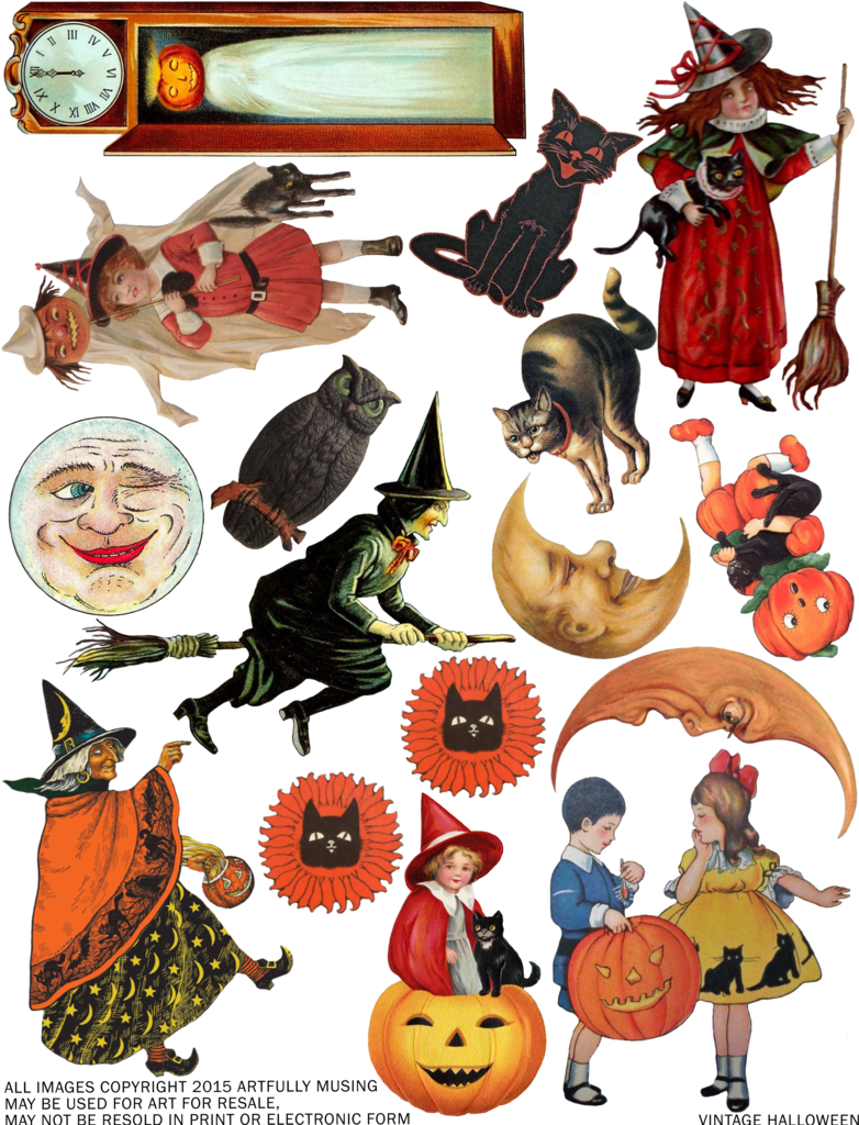 Quilting clipart vintage. Artfully musing free halloween