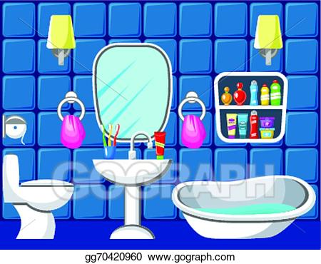 Bathroom clipart. Vector illustration gg gograph