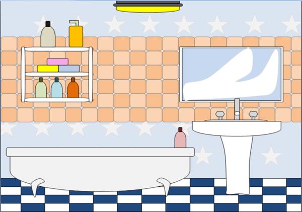 Furniture clipart bathroom furniture. Free