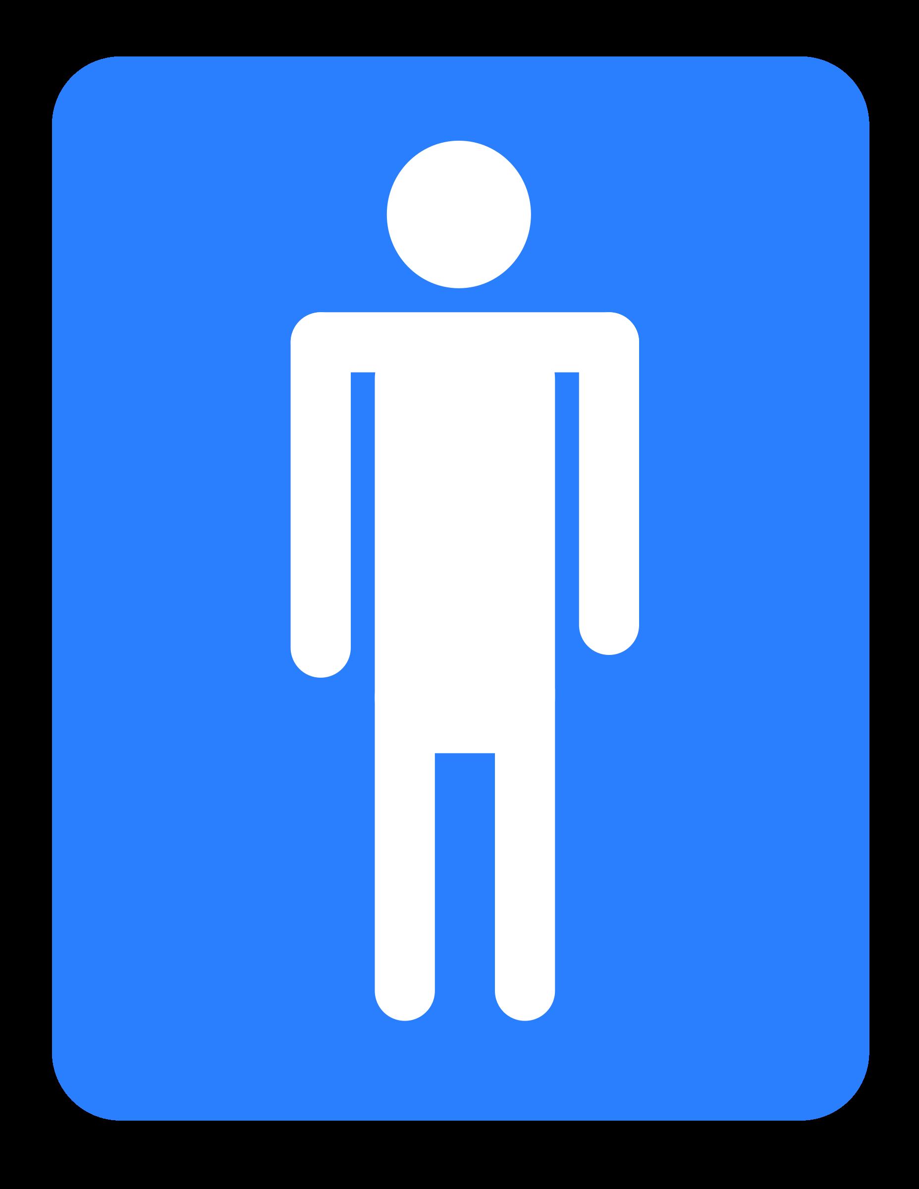 Men bathroom big image. Clipart door washroom
