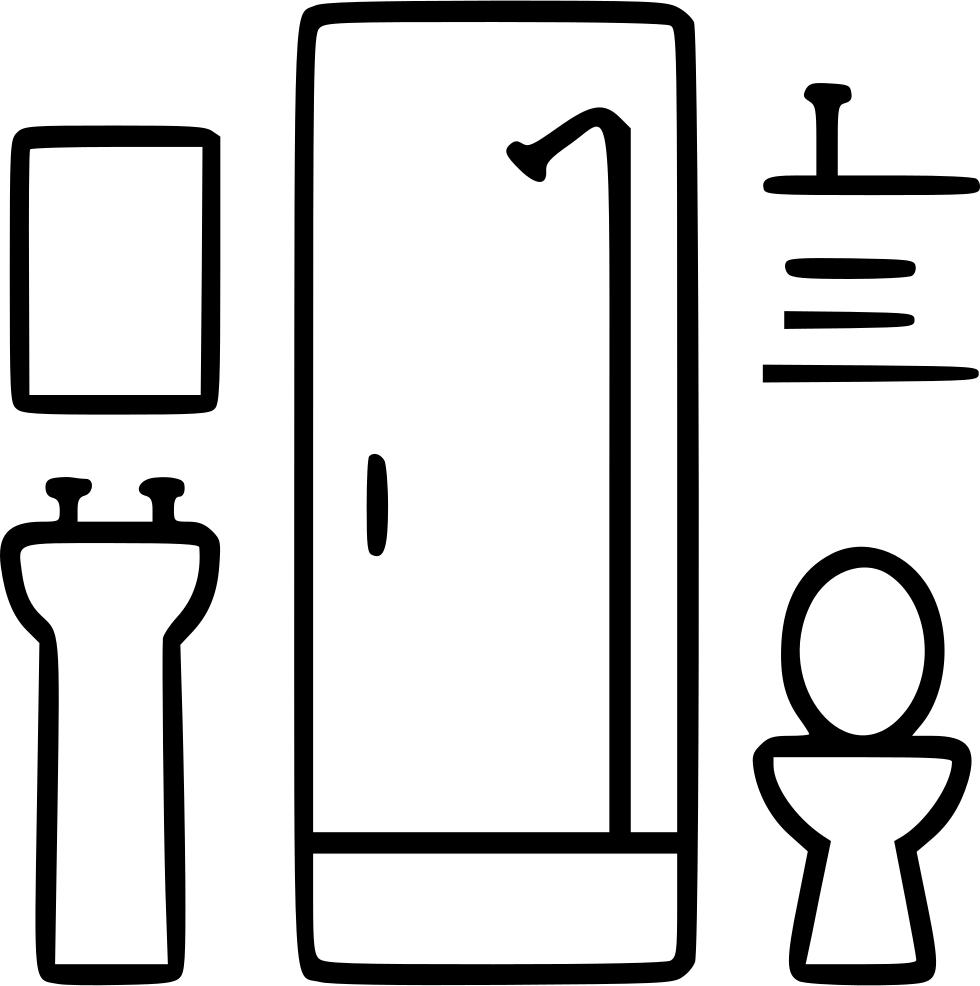 Decor bath toilet lavatory. Furniture clipart bathroom window