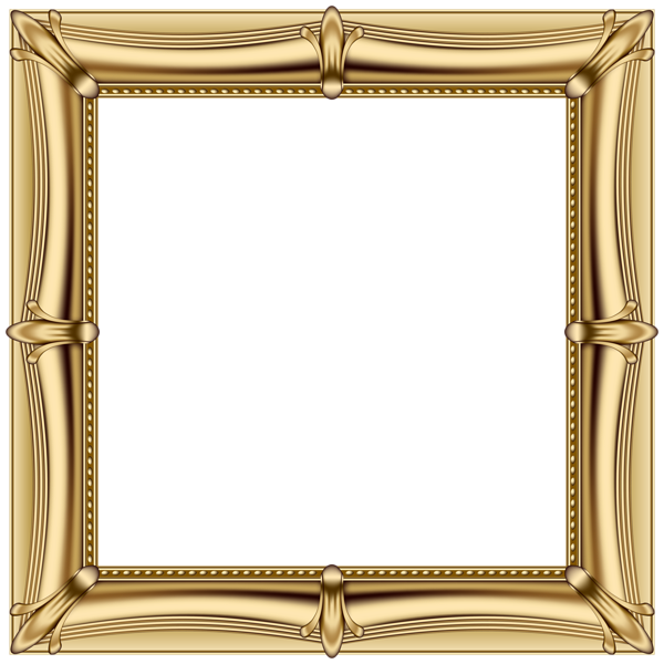 Painting frame png. Gold transparent clip art