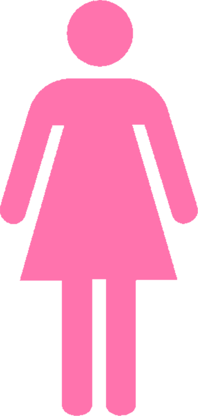 Girl sign complete ideas. Clipart woman bathroom