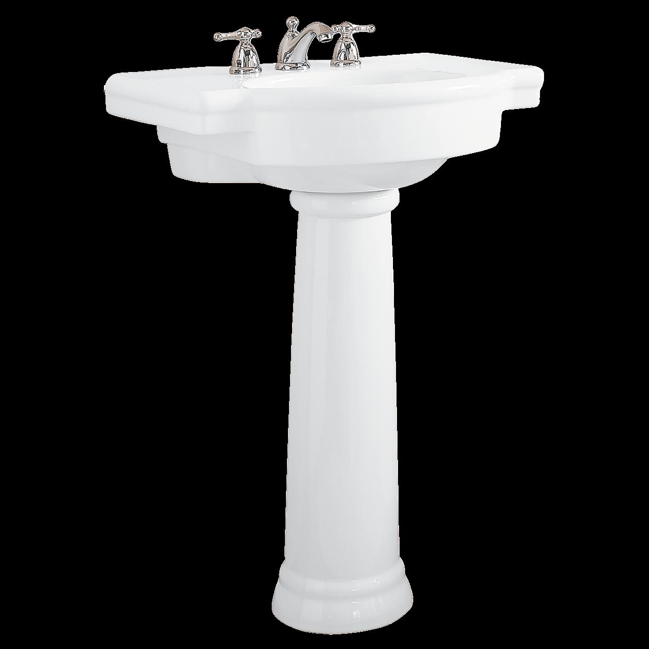 Clipart bathroom bathroom stall. Retrospect inch pedestal sink