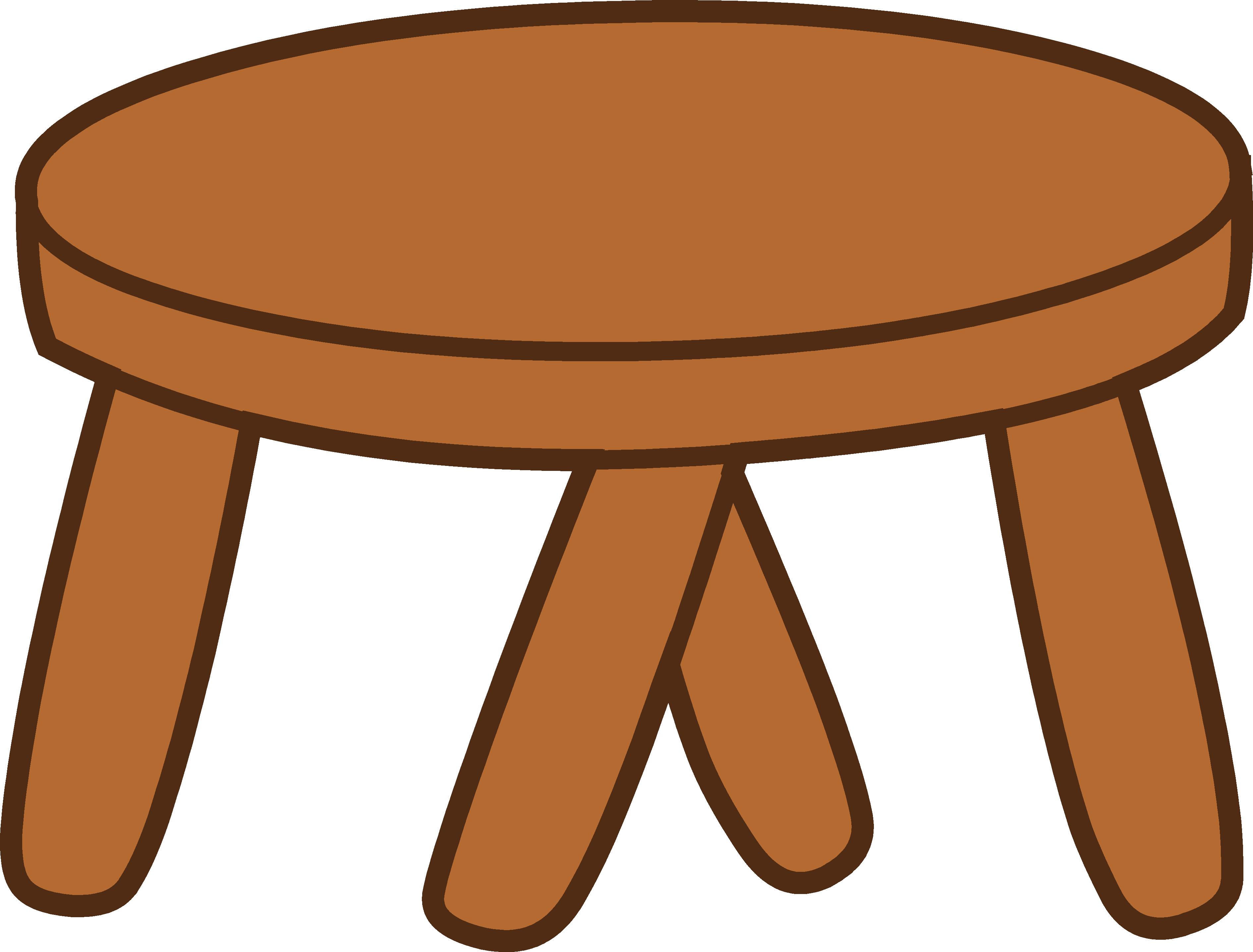 Furniture clipart animated. Footstool