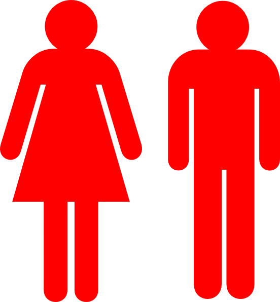 Boy and girl stick. Clipart woman vector