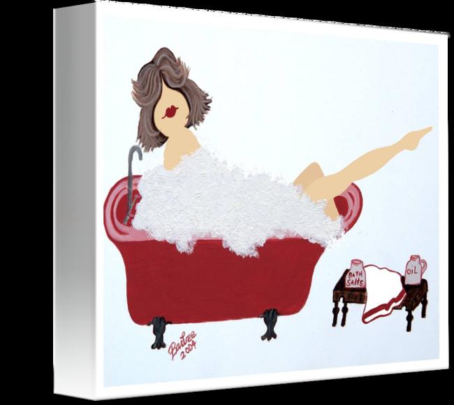 Girl no face by. Tub clipart bubble bath