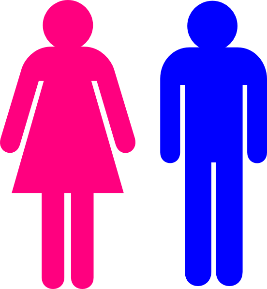 Female clipart washroom. Symbol male and clip