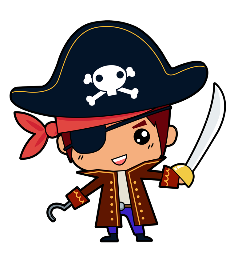 Young clipart pirate. This is cute little
