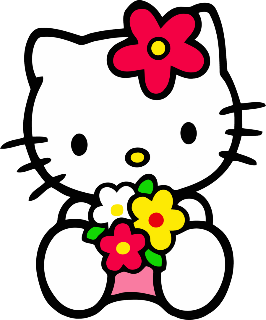 Hello pictures png pedio. Clipart roses kitty