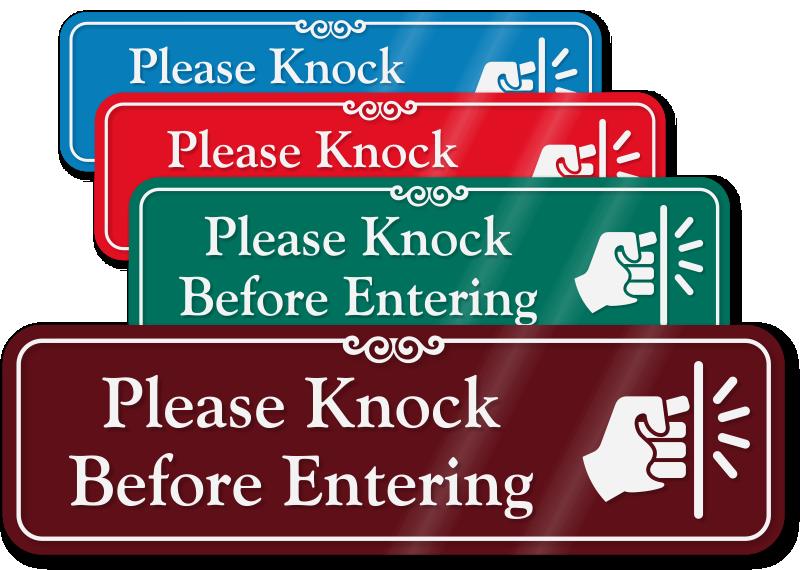 Clipart door nock. Please knock signs from