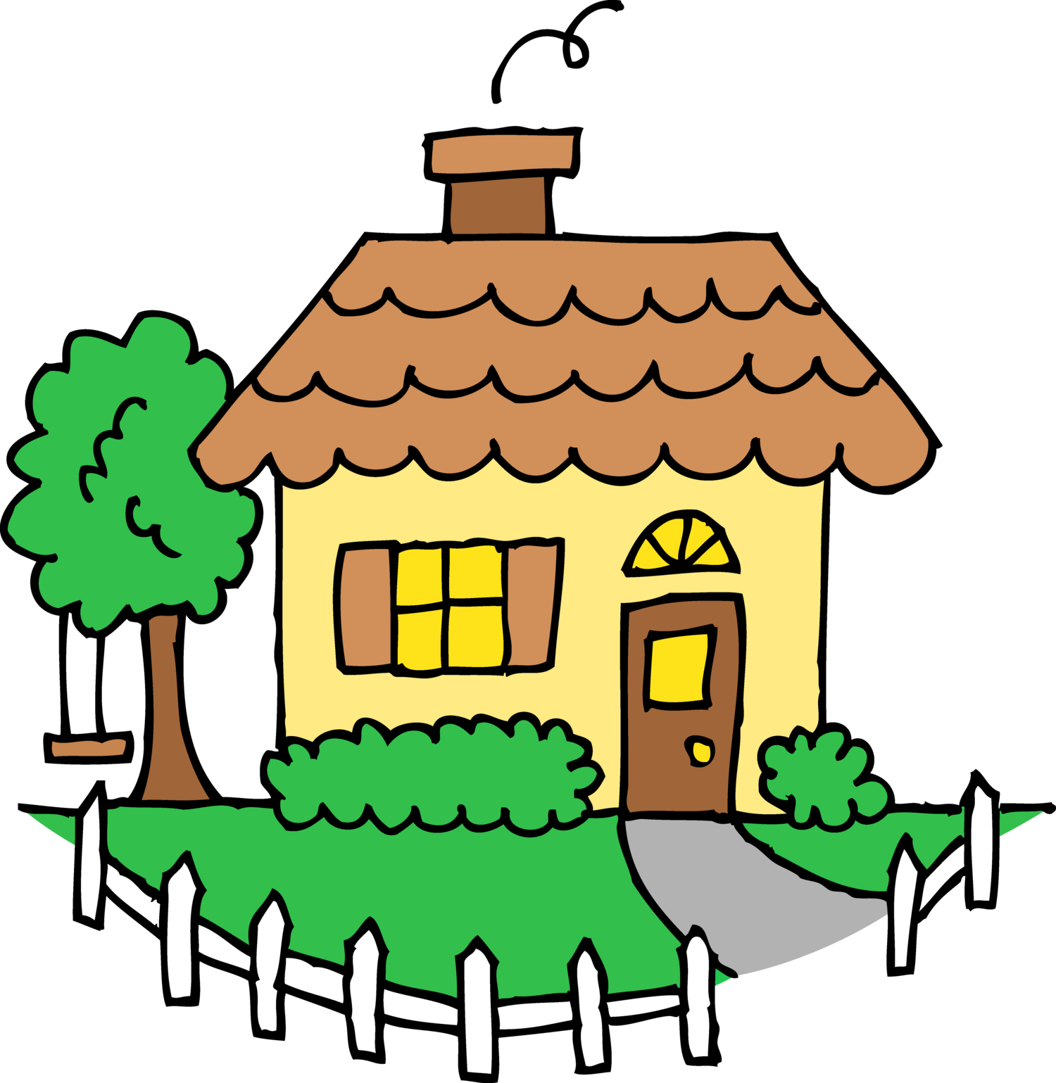 Make your happy thrive. Home clipart place