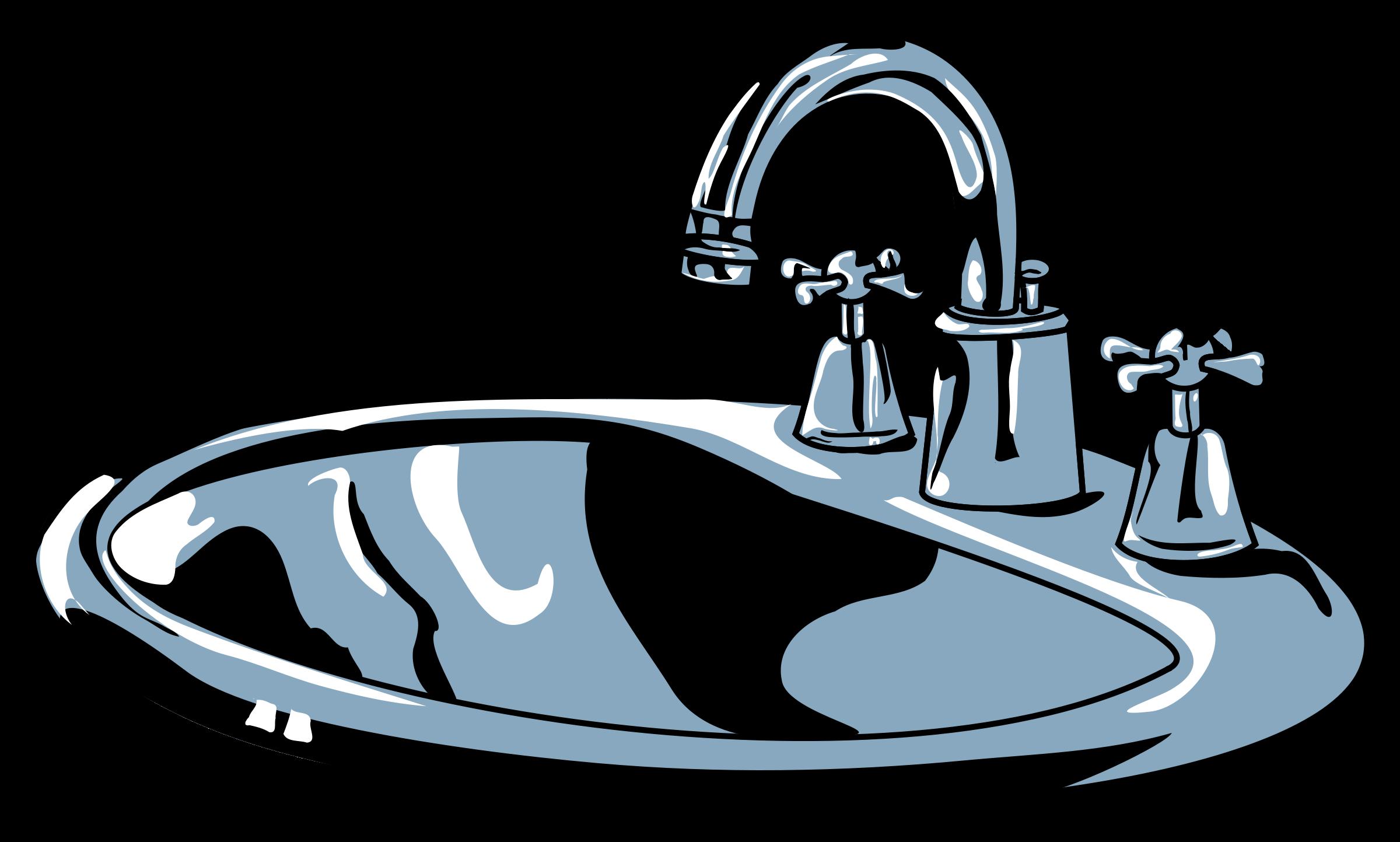 Faucet clipart water treatment. Terrific clean bathroom clip