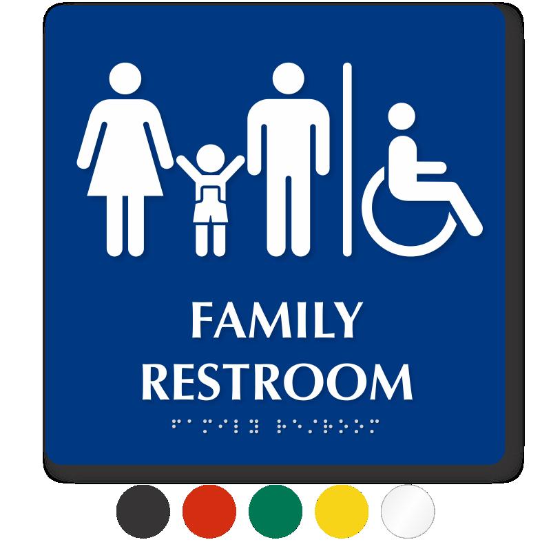 Family restroom signs . Clipart door washroom