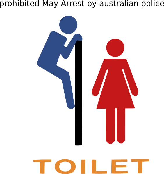Clipart bathroom logo. Toilet warning sign clip