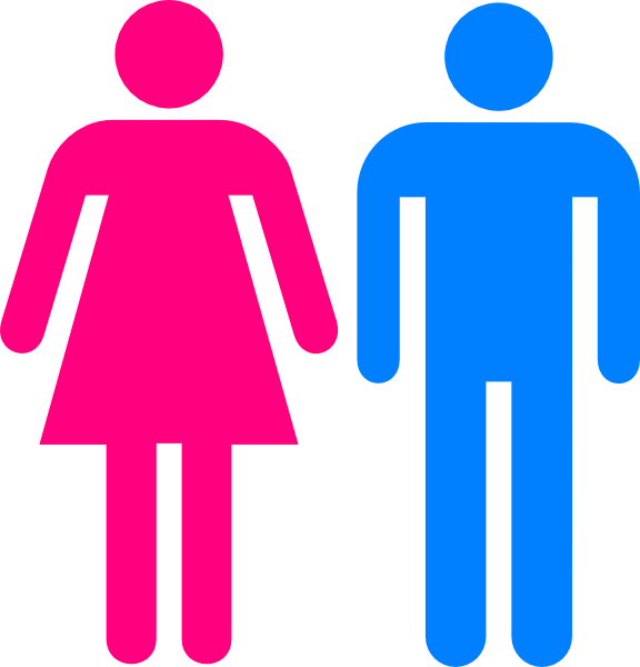 Clipart woman bathroom. Man women clip art