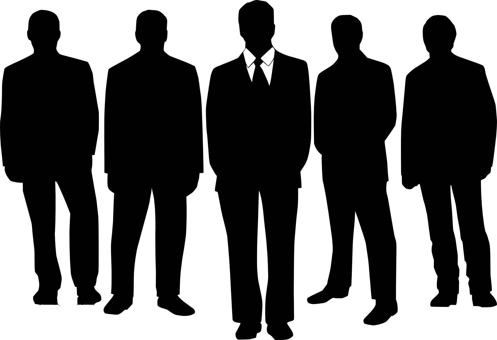 Teamwork clipart person. Men in suits clip