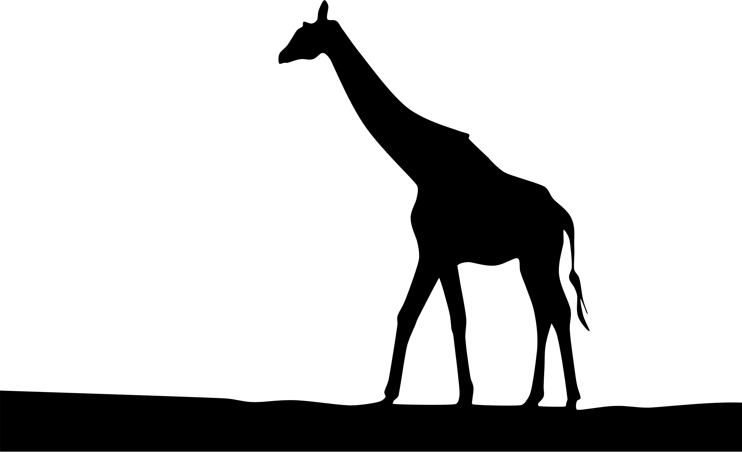 Shocking giraffe landscape silhouette. Clipart bathroom modern bathroom