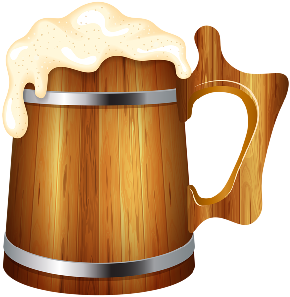 Cup clipart beer. This png image wooden