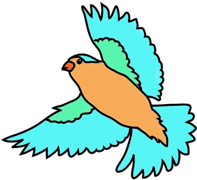Colorful birds free large. Flying clipart vacation day