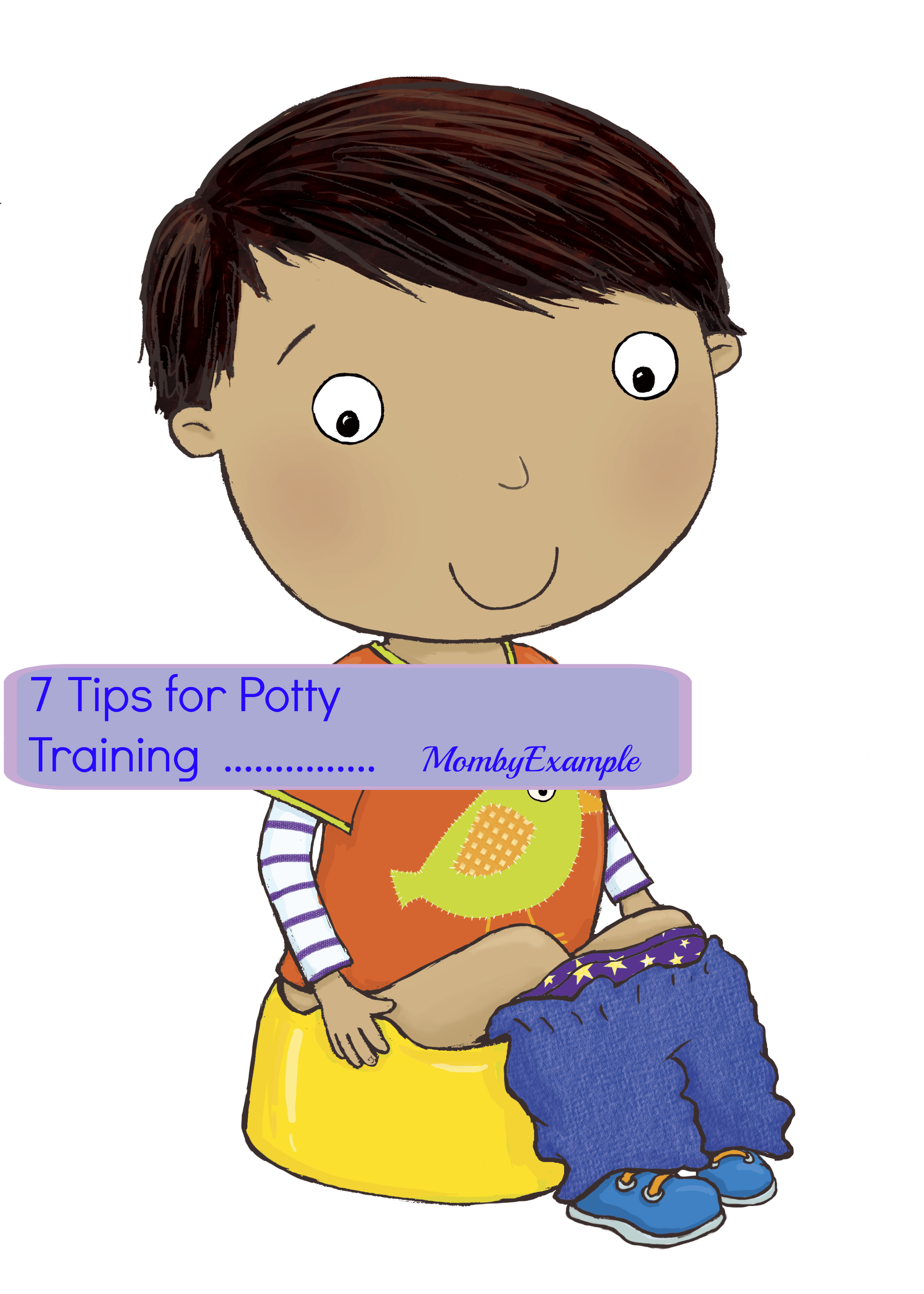 Potty training mom by. Tired clipart lazy child