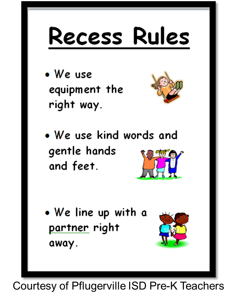 Recess rules created by. Organized clipart library rule