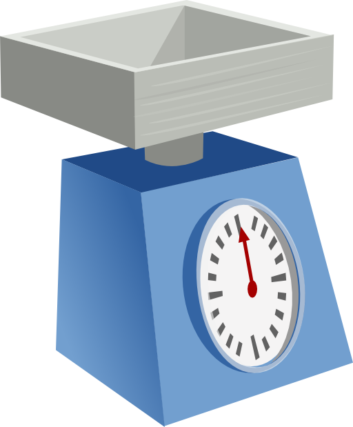 Kitchen scales i royalty. Scale clipart mass scale