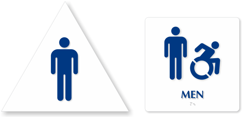 Clipart bathroom signage. Accessible restroom signs zoom
