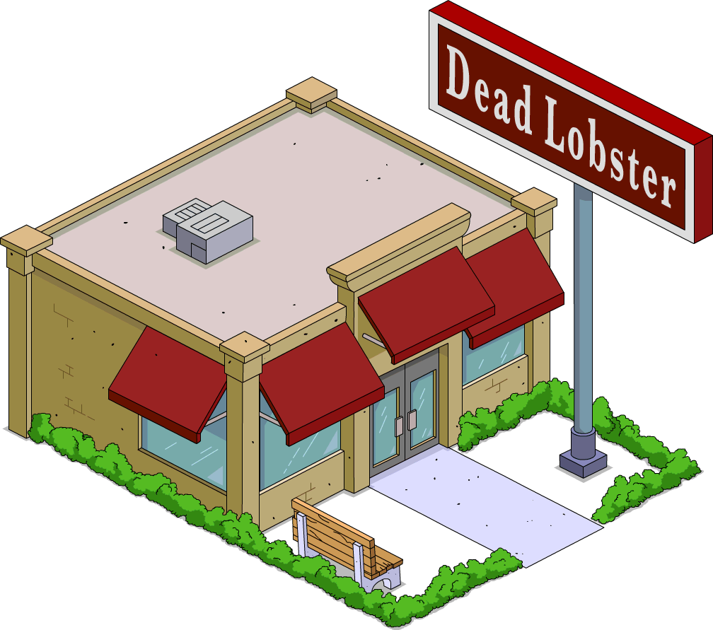 Factory clipart military building. Dead lobster the simpsons