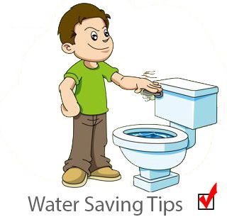 Clipart toilet flush toilet. Saving water only your